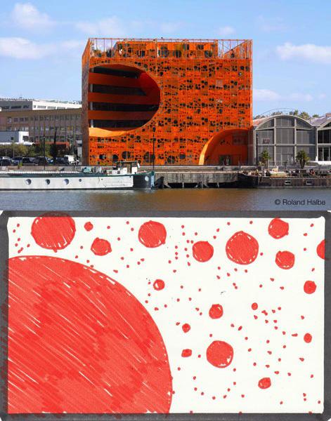Jakob & Mac Farlane - cube orange // feutre